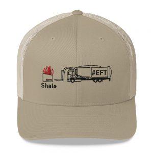 Shale Dumpster Fire #EFT Trash Trucker Cap (Black Embroidery)